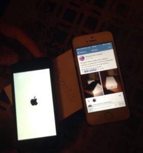 Айфон 5s в белом корпусе