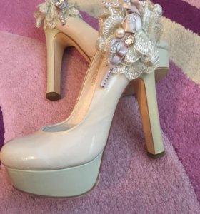 Туфли на каблуке 14 см платформа 4 см