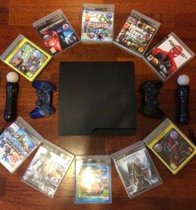 PlayStation 3 + 10 игр