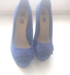 Туфли синие, 35 размер