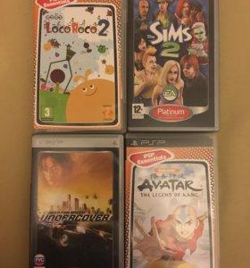Psp диски с играми GTA, NFS, Sims 3, Avatar