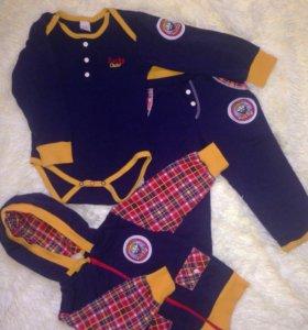 Lucky child 80-86 костюм штаны кофта боди