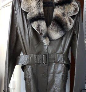 Куртка натуральная кожа с мехом