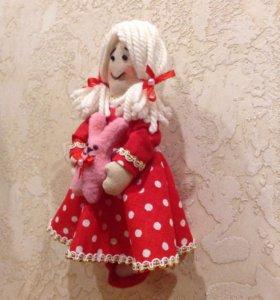 Текстильная куколка-малышка