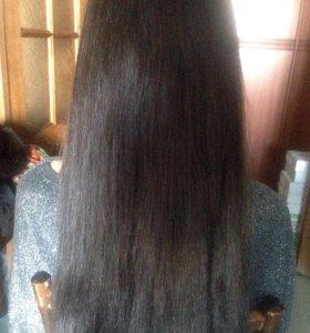 Полировка волос +обработка маслом
