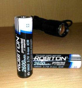 Батарейка для фонаря   18650 Robiton