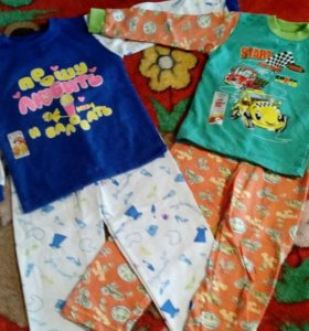 Пижама с начесом для мальчика и для девочки