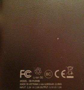 Портативное зарядное устройство samsung 6000 mAh