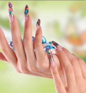 Наращивание ногтей, коррекция, покрытие гель-лаком