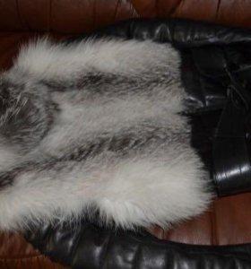 Натуральная кожаная куртка-жилетка