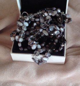 Ожерелье из натуральных камней, украшение на шею