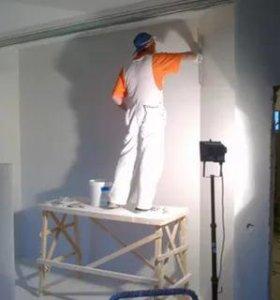 Шпатлевка стены, потолки