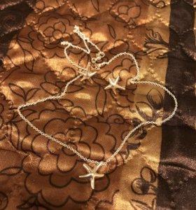 Серьги и кулон украшения