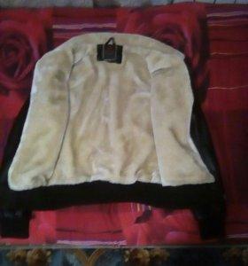 Кожаня куртка