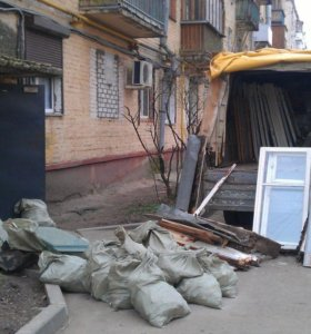 Вывоз мусора на свалку Газелью