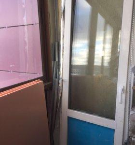Стекло пакет дверь размер 0,72 на 2.34