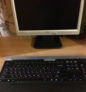 Компьютер,компьютерный стол,клавиатура,блок