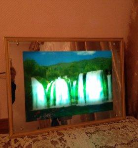 Электрический водопад- картина