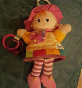 Кукла погремушка развивающая