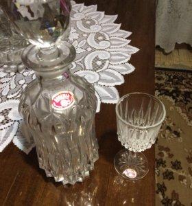 Набор из хрусталя для вина crystal bohemia