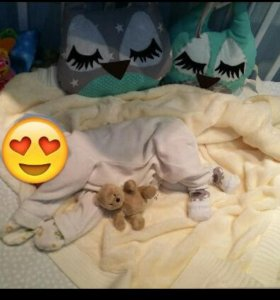 Бортики в кроватку совушки
