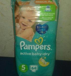 Подгузники Pampers active baby-dry 5 размер 64 шт