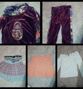 Одежда для девочки пакетом 120-128