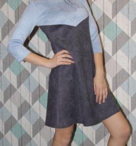 Платье замша Новое