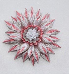 Бант-цветок на резинку, ободок