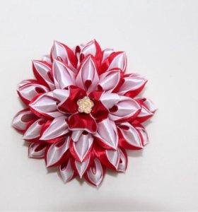 Бант-цветок на ободок, резиночки