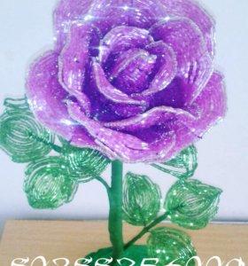 Роза из бисера сделанная
