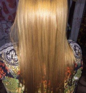 Выпрямление и лечение волос кератином