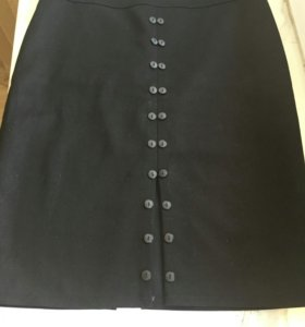Оригинальная черная юбка