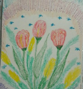 🎨Рисунок Весна марта поделка в сад, школу