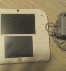 Nintendo 2ds +4gb +3 игры +зарядка