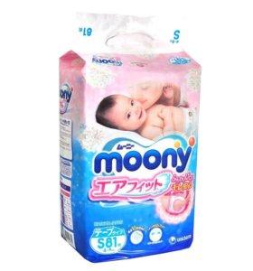 Подгузники Moony S (4-8 кг) 81 шт.