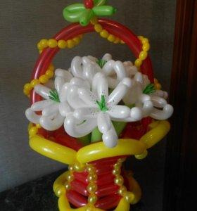 Букеты из воздушных шаров на заказ.