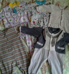 Пакет одежды на малыша 3-6 мес