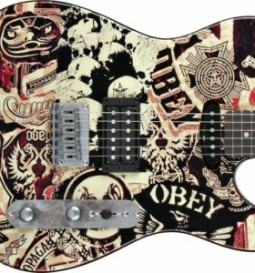 Fender squier obey graphic telecaster