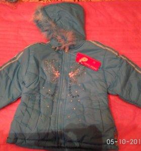 Куртки на девочку, новые