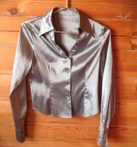Рубашка серебристая