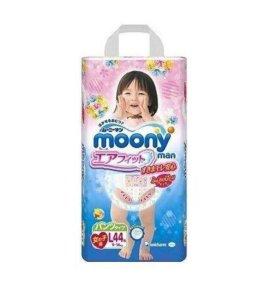Трусики Moony L (9-14 кг) для девочки 44 шт.