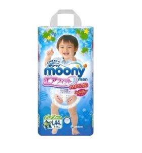 Трусики Moony L (9-14 кг) для мальчика 44 шт.