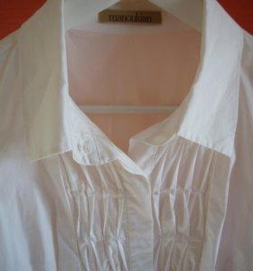 белая блузка manoukian рубашка