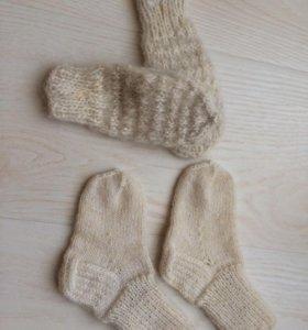 Носочки и варежки НОВЫЕ