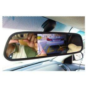 Зеркало заднего вида смонитором+ камера на логан,с