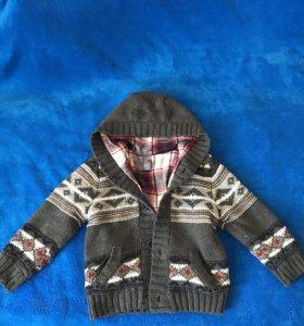 Куртка вязаная с трикотажной подкладой Zara kids