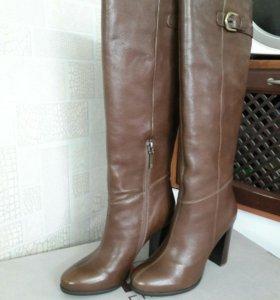 Новые сапоги кожаные
