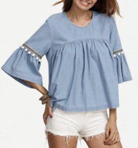 Новая джинсовая  блузка