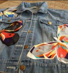 Куртка джинсовая,новая 40_42